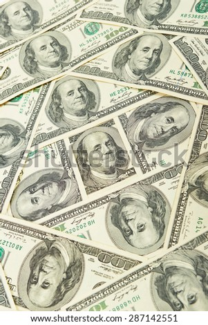 Money dollar background - stock photo