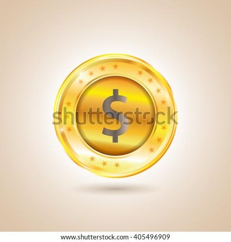 Money - Dollar Coin. Illustration - stock photo
