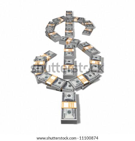 Money Dollar Sign - stock photo