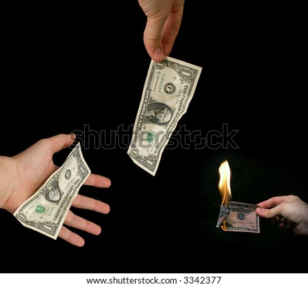 Money - Dollars - concept - idea - stock photo
