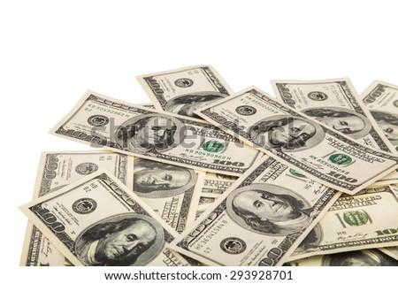 Money, dollars, dollar. - stock photo