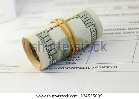 money, dollars isolated on white background - stock photo