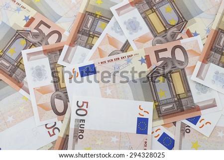 Money: Euro Banknotes - stock photo