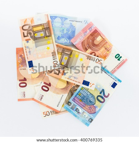 money euro bills currency - stock photo