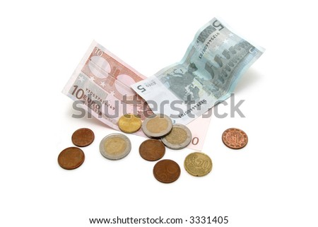 money euros - stock photo