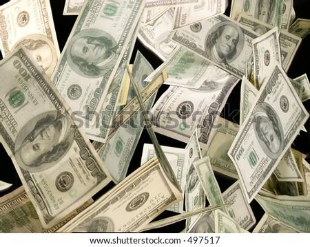 money flying - stock photo