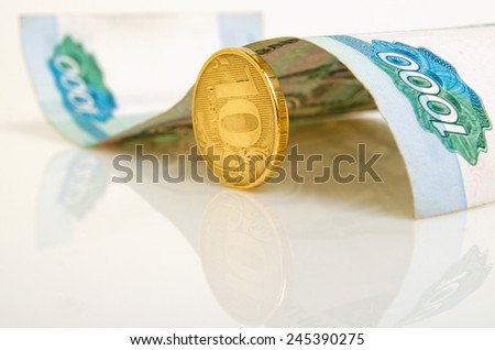 Money folded in the form of a car. - stock photo