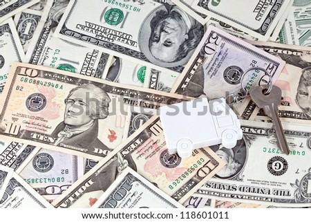 Money for car purchase - stock photo