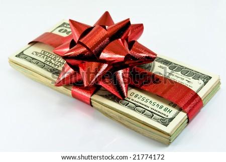 money for christmas - stock photo