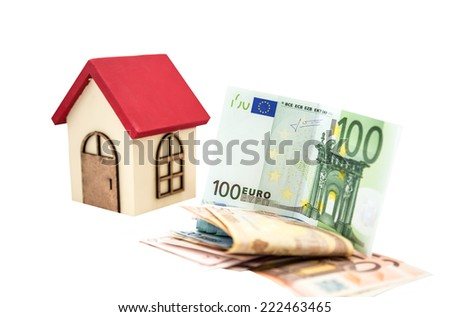 money for house - stock photo