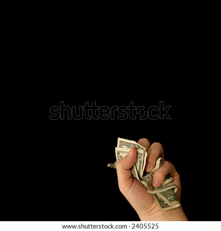 money for nothing - stock photo