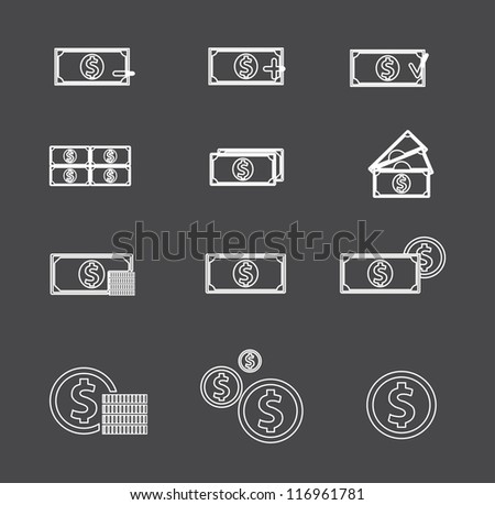Money for use in your designs. Vector version also available in my portfolio. - stock photo
