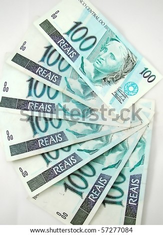 money from brazil - stock photo