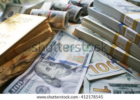Money & Gold Stock Photo - stock photo