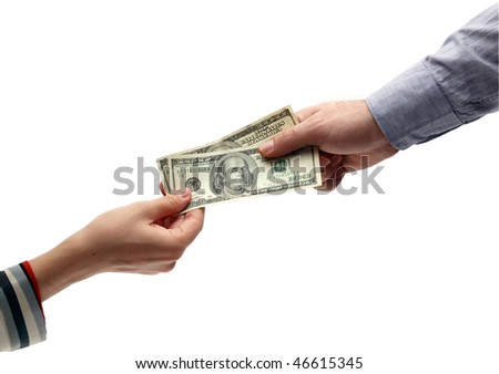 Money hands - stock photo