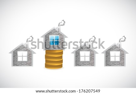 money house. money home illustration design over a white background