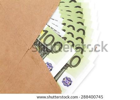 Money in envelope - stock photo