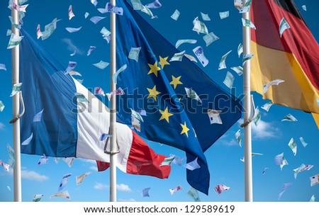 money in europe - stock photo
