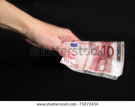 money in the hands of - stock photo