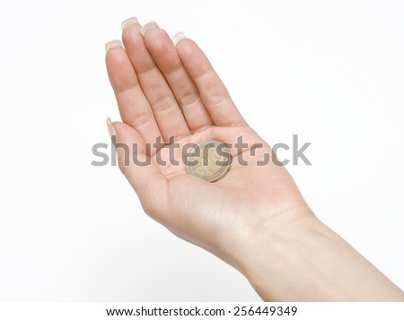 Money in the Palm - stock photo