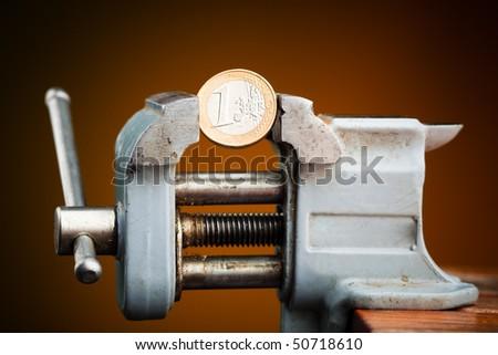 money in vice - stock photo