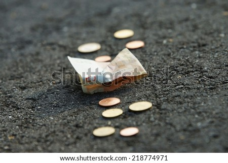 Money is on the road - stock photo