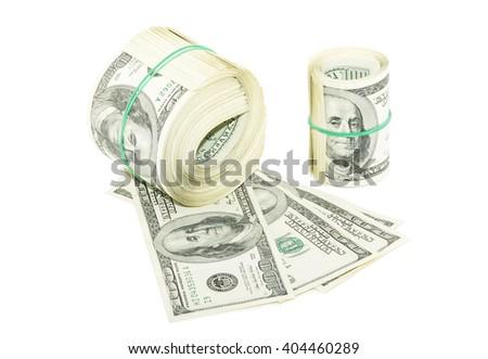 money isolated on a white background - stock photo