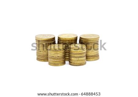 Money isolated on white - stock photo