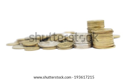 Money isolated on white background