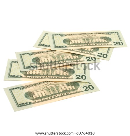 Money isolated on white background close up