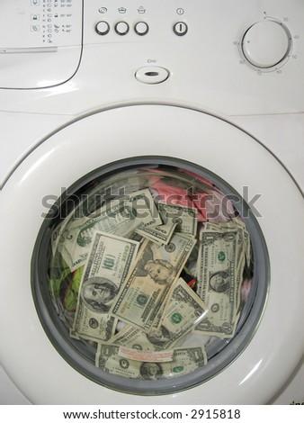 Money laundering concept 3 - stock photo