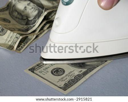 Money laundering concept 2 - stock photo