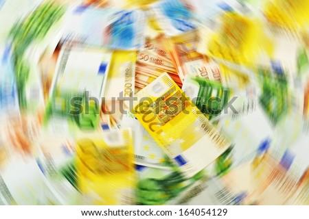 Money laundering. Euro European currency - stock photo