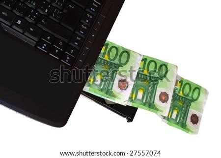 Money making - metaphor - object isolated on white background - stock photo