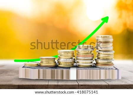Money of stack ,save money for business and future. - stock photo