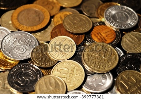 money of the different states   On a photo is represented money of the different states of different times. Among them there are money of the USSR.  - stock photo