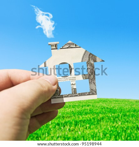 money on a new house - stock photo