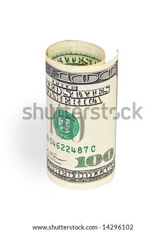 money on white background