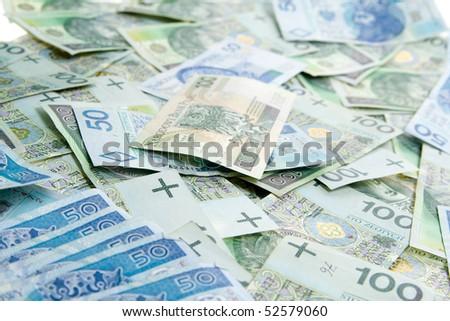 Money on white background - stock photo