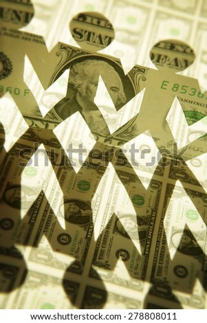 Money paper people - stock photo