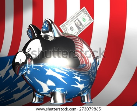 money piggy bank - stock photo