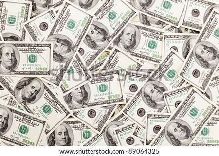 Money Pile $100 dollar bills