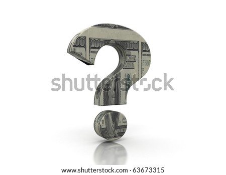 Money question mark - stock photo