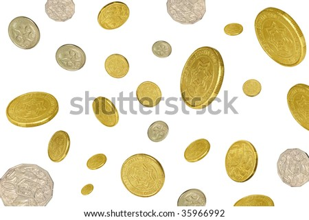 money raining - stock photo