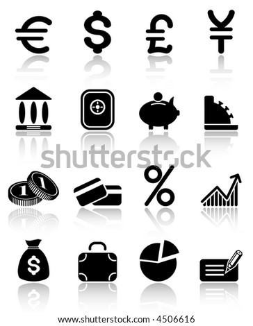 Money raster iconset. Vector version is available in my portfolio - stock photo