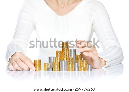 Money saving or care concept - stock photo