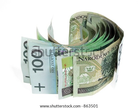 Money scrooll - stock photo
