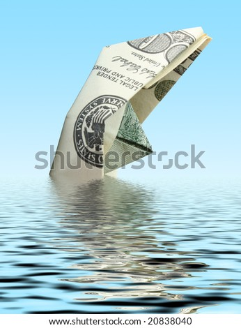 money ship - stock photo