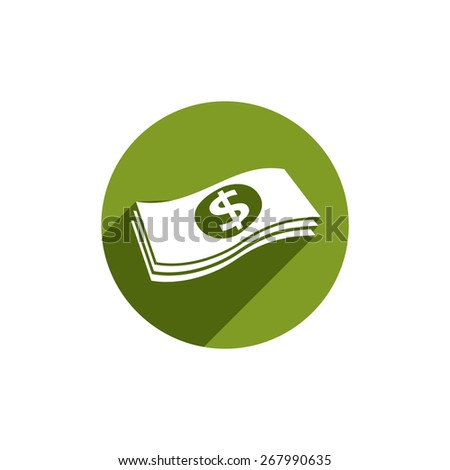 Money stack icon isolated.