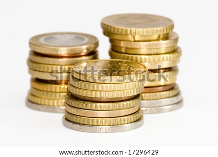 money stacks - stock photo